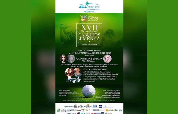 Carlitos Jimenez Golf Tournament Invitation - Bambi International Foundation